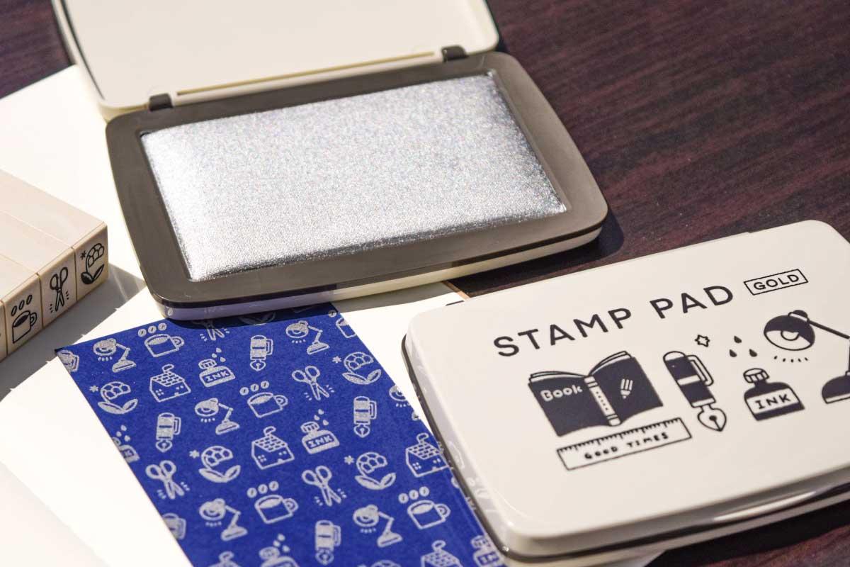 コラボ STAMP PAD [eric] (ゴールド・シルバー)